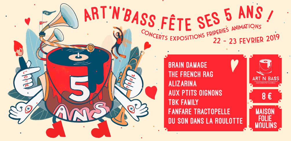 Art'n'bass 5 ans – 22&23 février – Maison folie moulins