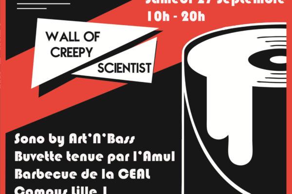 Wall of Creepy Scientist Art_n_bass